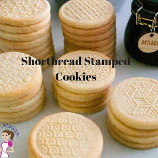 Shortbread Stamped Cookies.
