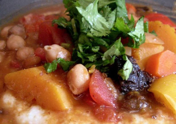 Moroccan Vegetable Stew With Couscous Recipe