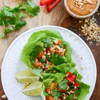 Thai Butternut Squash Lettuce Wraps