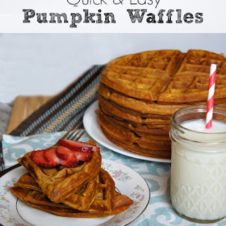 Healthy Pumpkin Waffles.