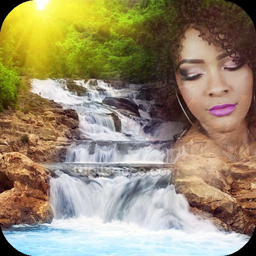 Waterfall Overlay Photos App Icon