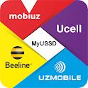 MyUSSD (Uzmobile, Mobiuz, Ucell, Beeline) icon