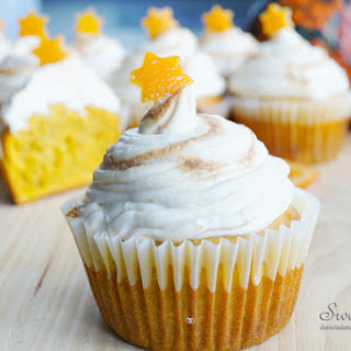 Healthy Pumpkin-Orange Cupcakes