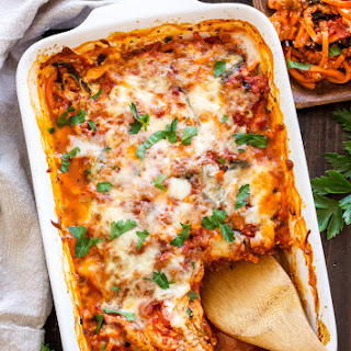 "Sweet Potato ""Pasta"" Bake."