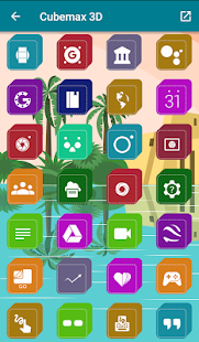 Cubemax 3D - Icon Pack Screenshot
