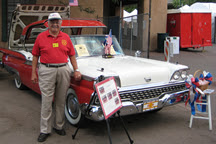 Photo: Joe Valdes with his 1959 Ford Skyliner