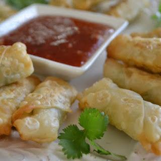 Mini Shrimp Rolls with Homemade Plum Sauce