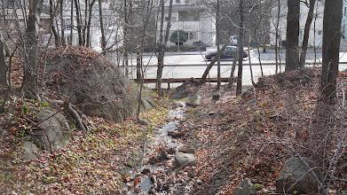 Photo: 'Scotch Pond Brook'  Running under Granite St