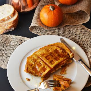 Pumpkin French Toast Waffles.