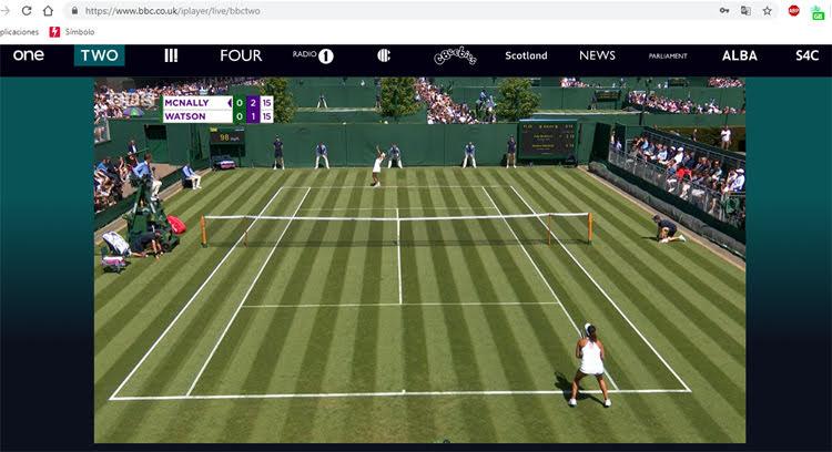 ver gratis Wimbledon
