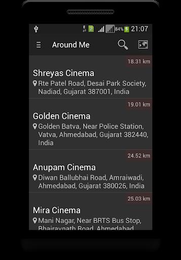 Locate Movie Theater