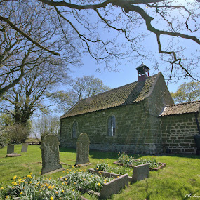 Countryside Church by Michael Topley - Buildings & Architecture Places of Worship ( uk, england, church, graves, trees )