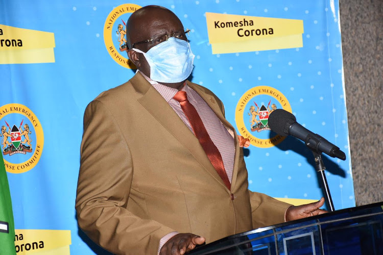 Education Cabinet Secretary George Magoha during a press conference at Afya house on April 26, 2020.