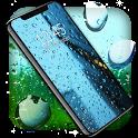 Rain Drops Live Wallpaper 🌧️City Night Sky Themes icon