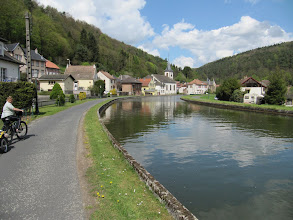 Photo: Day 26 - Passing Through a Pretty Village on the Edge of the Canal