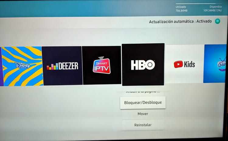 Bloquear aplicaciones en una Smat Tv
