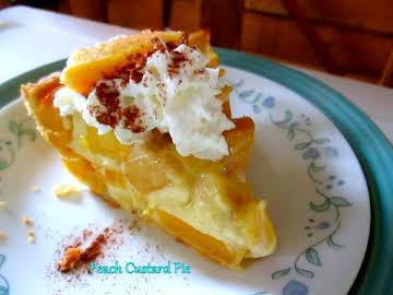 ~ Peach Custard Pie ~ Cassies