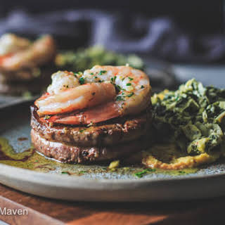 Steak and Shrimp Surf and Turf.
