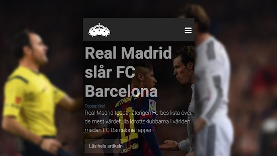 Halamadrid.se: Officiell app- screenshot thumbnail