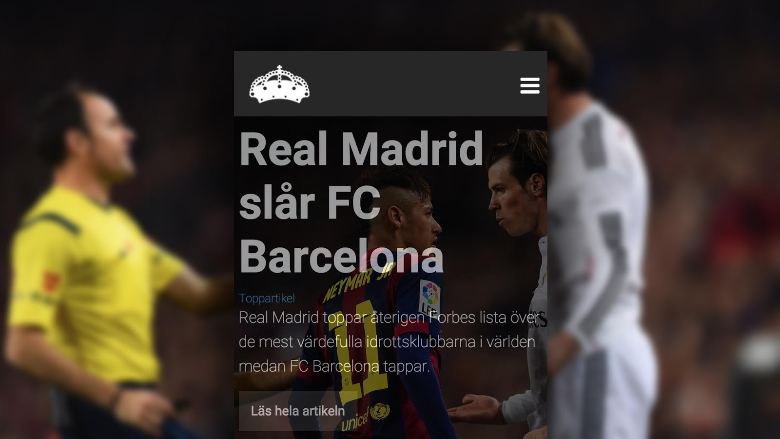 Halamadrid.se: Officiell app- screenshot