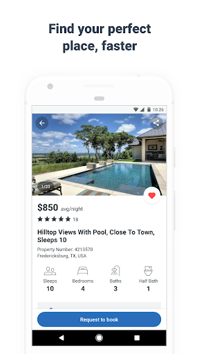 HomeAway Vacation Rentals Screenshot