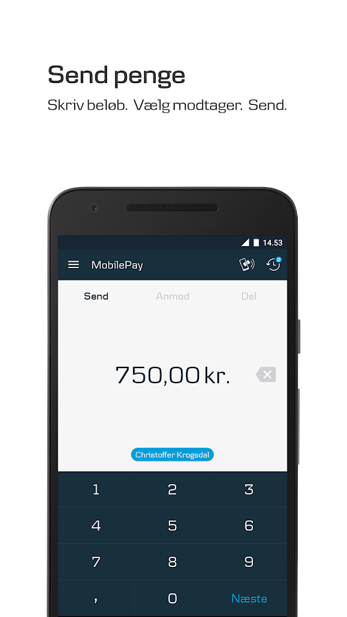 how to use mobile pay danske bank