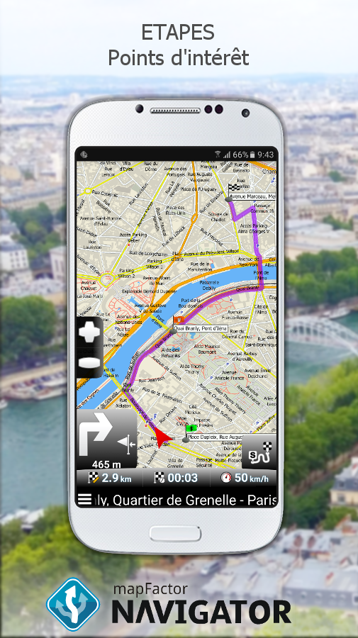mapfactor gps navigation maps applications android sur. Black Bedroom Furniture Sets. Home Design Ideas