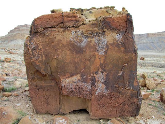 Square boulder, west side