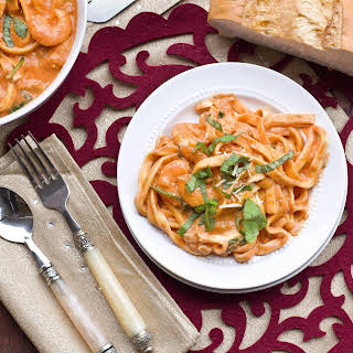 Pasta with Tomato Cream Sauce.