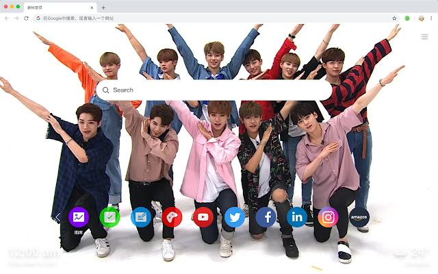 Wanna One Hot Stars HD New Tabs Themes