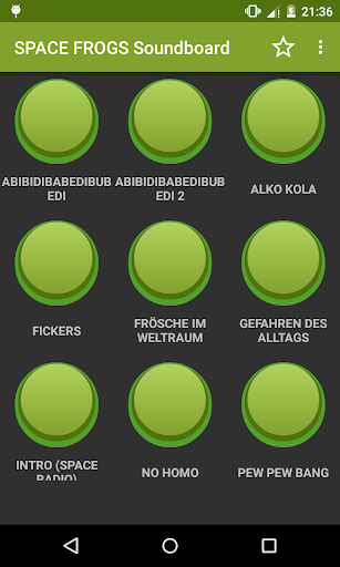 SPACE FROGS Soundboard screenshot 1