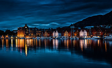 Photo: I only saw dark in Norway on one evening. The nights were too short in the summer. I took a few pictures including this one.