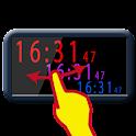 色が変えられる デカ文字 時計 hiClock icon