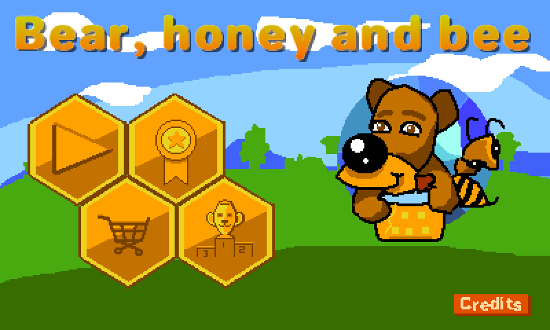 Bear, honey and bee- screenshot