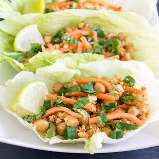 Tofu Chickpeas Lettuce Wraps.