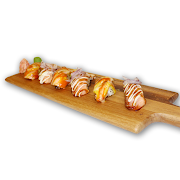54. Grilled Salmon Sushi