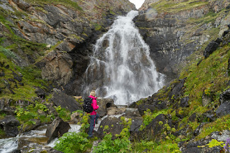 Photo: Fallfossen, a waterfall in a side valley to Grimsdalen, Dovre mountains.