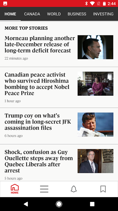 The Globe and Mail: News- ekran görüntüsü