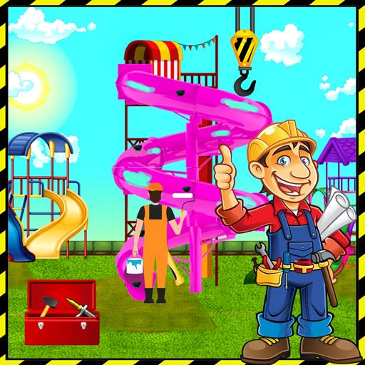 Theme Park Slides Swings Builder: Construction Sim (game)