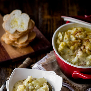 Creamy cauliflower & Potato Bake