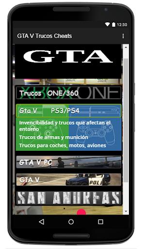 Trucos Cheats para GTA5 2.0 screenshots 7