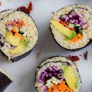Vegetable Cauliflower Rice + Quinoa Sushi.