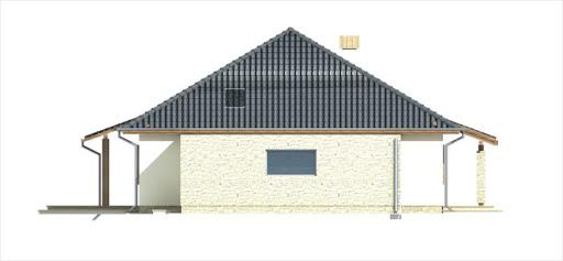 Antek III wersja B z pojedynczym garażem - Elewacja lewa