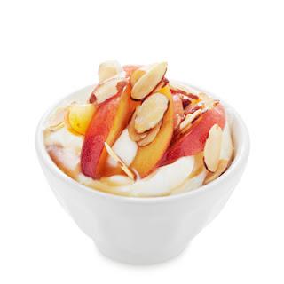 Peach and Toasted Almond Greek Yogurt