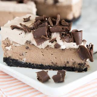 Baileys Chocolate Cheesecake.