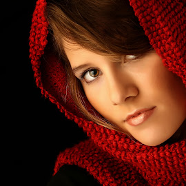 Soft by Troy Pearson - People Portraits of Women ( red, color, woman, portrait,  )