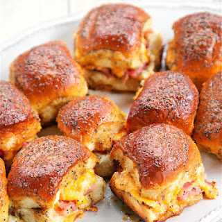 Hot Ham and Pimento Cheese Sandwiches.