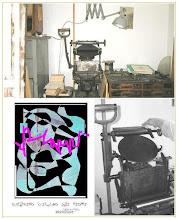 Photo: Handtiegelpresse für Hoch -und Experimentaldruck im Postkartenformat geeignet für orginale Kunstpostkarten, Einladungen, Grußpostkarten...e.c.
