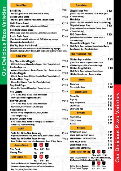 Lip Lick Pizzeria menu 3