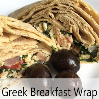 Greek Breakfast Wrap – Freezer Friendly